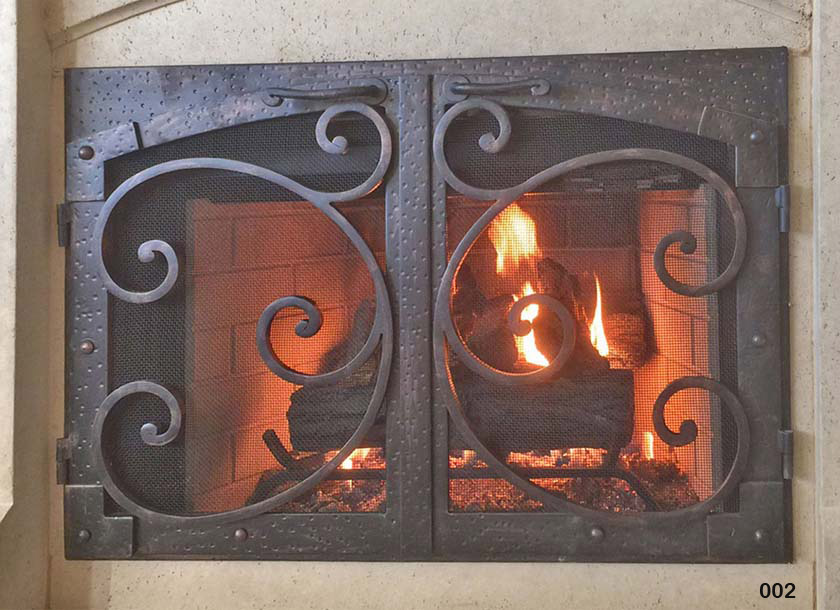 Hand Forged Iron Fireplace Doors Fd002 From Mantel Depot