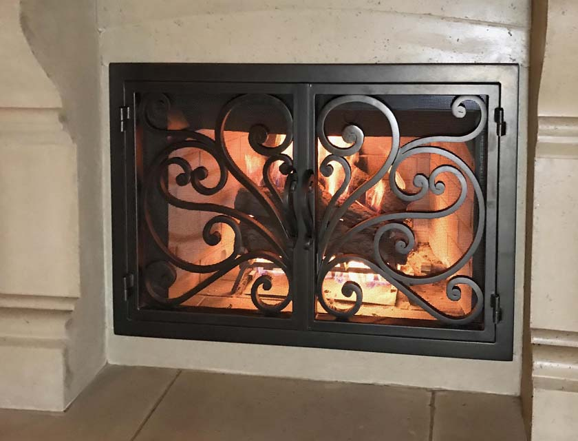 Hand forged Fireplace Door FD003
