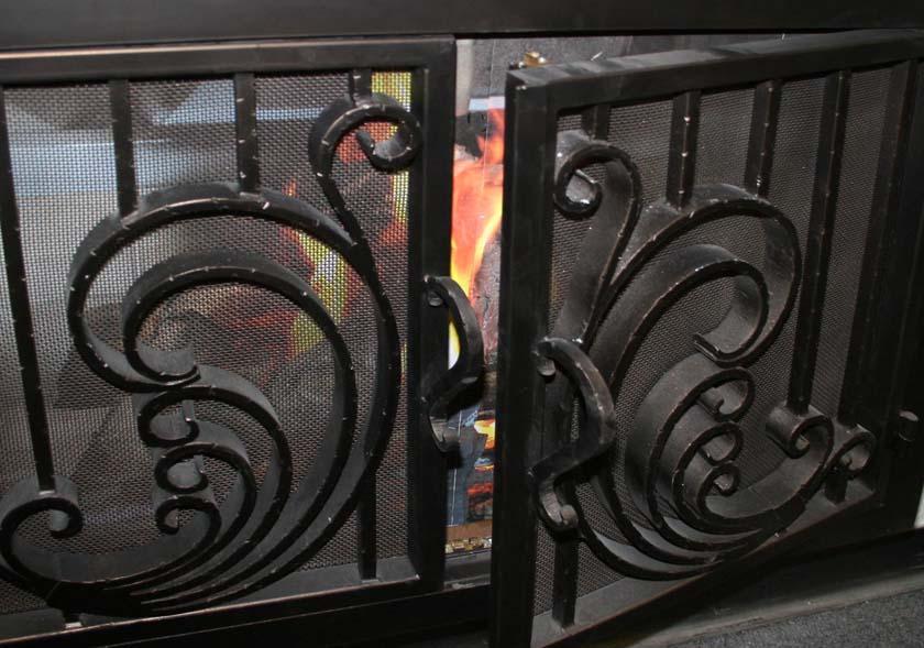 Hand forged Fireplace Door 4