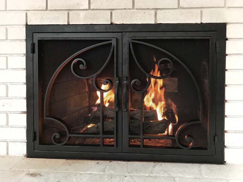 Hand Forged Iron Fireplace Doors Fd010 From Mantel Depot