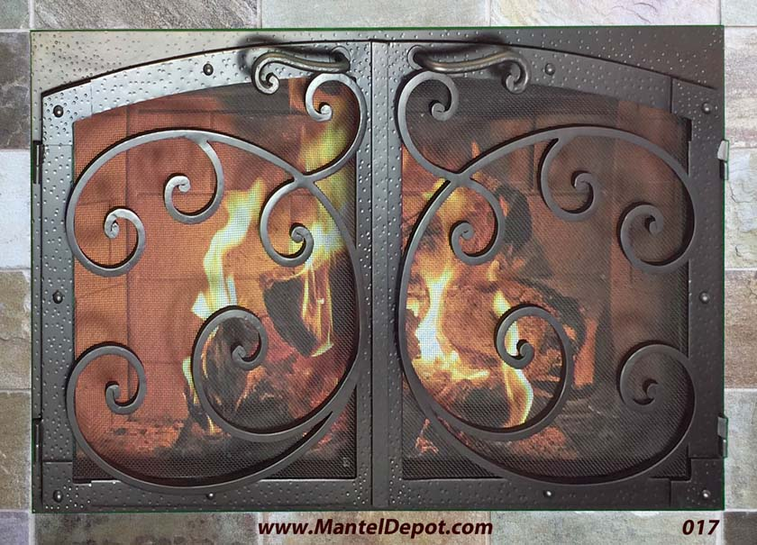 Mantel Depot Iron Fireplace Door 17