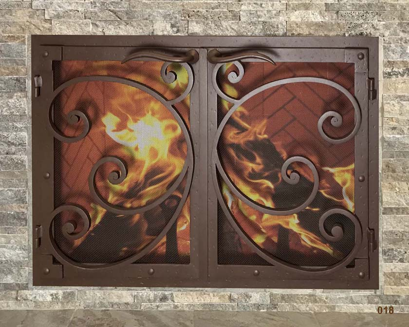 Mantel Depot Iron Fireplace Door 18