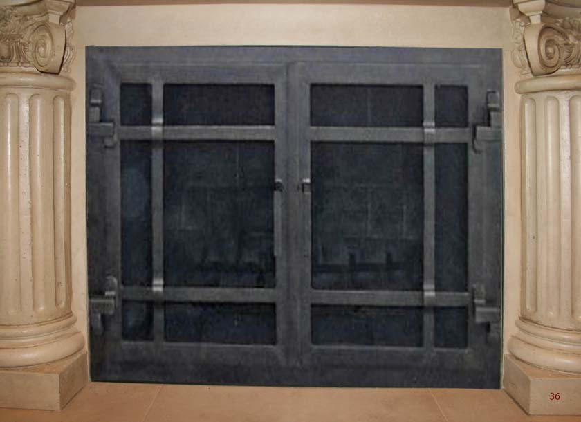 Hand Forged Iron Fireplace Doors Fd036 From Mantel Depot