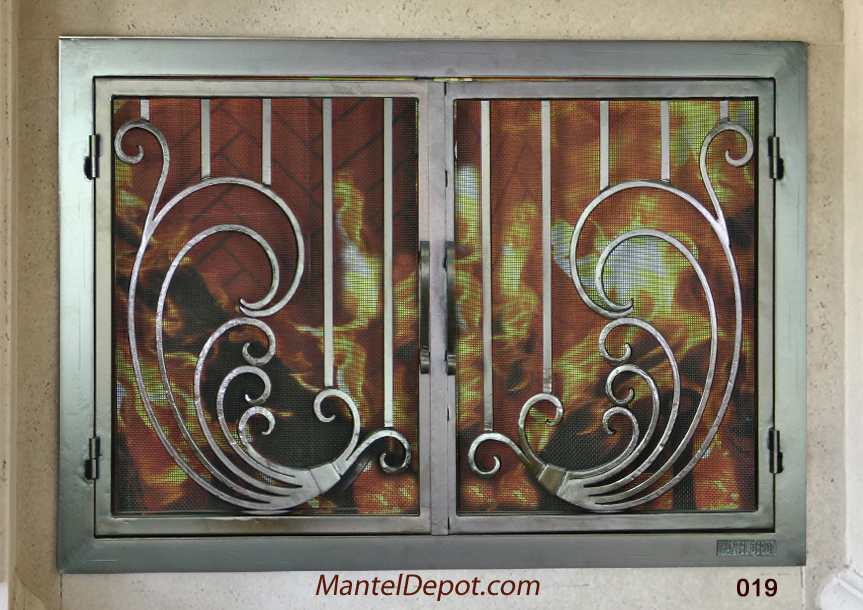 Mantel Depot Iron Fireplace Door 19