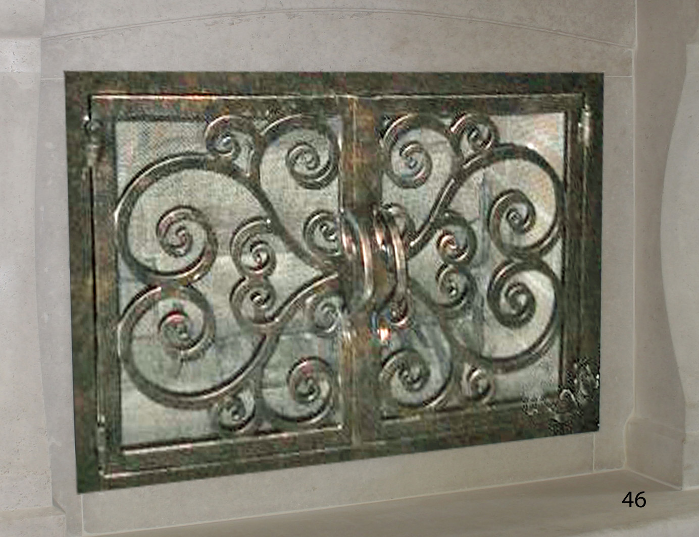 forged iron fireplace doors fd046 from mantel depot