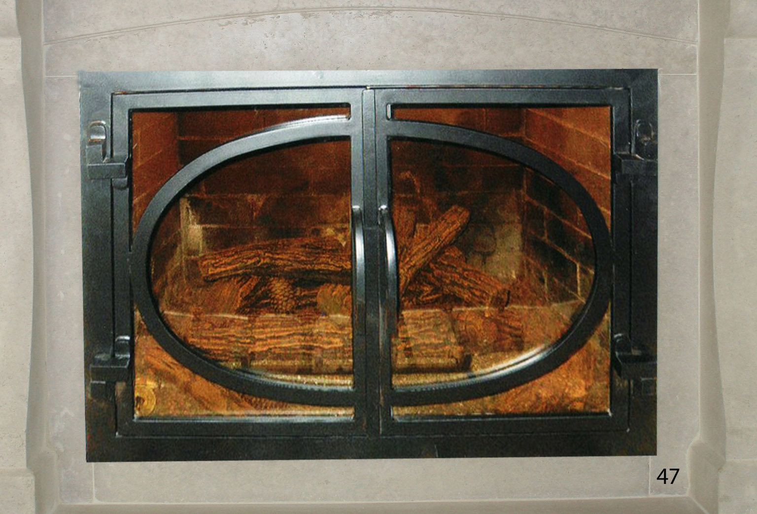 Hand Forged Iron Fireplace Doors Fd047 From Mantel Depot In San Diego