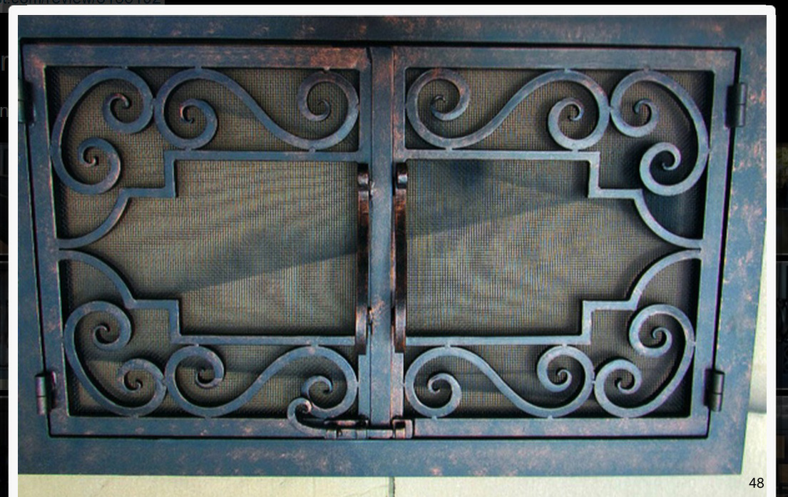 Hand Forged Iron Fireplace Doors FD048 from Mantel Depot ...
