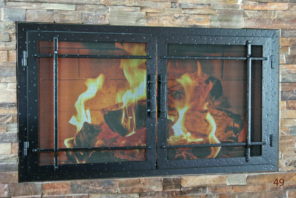 hand forged iron fireplace doors fd049 from mantel depot in san diego