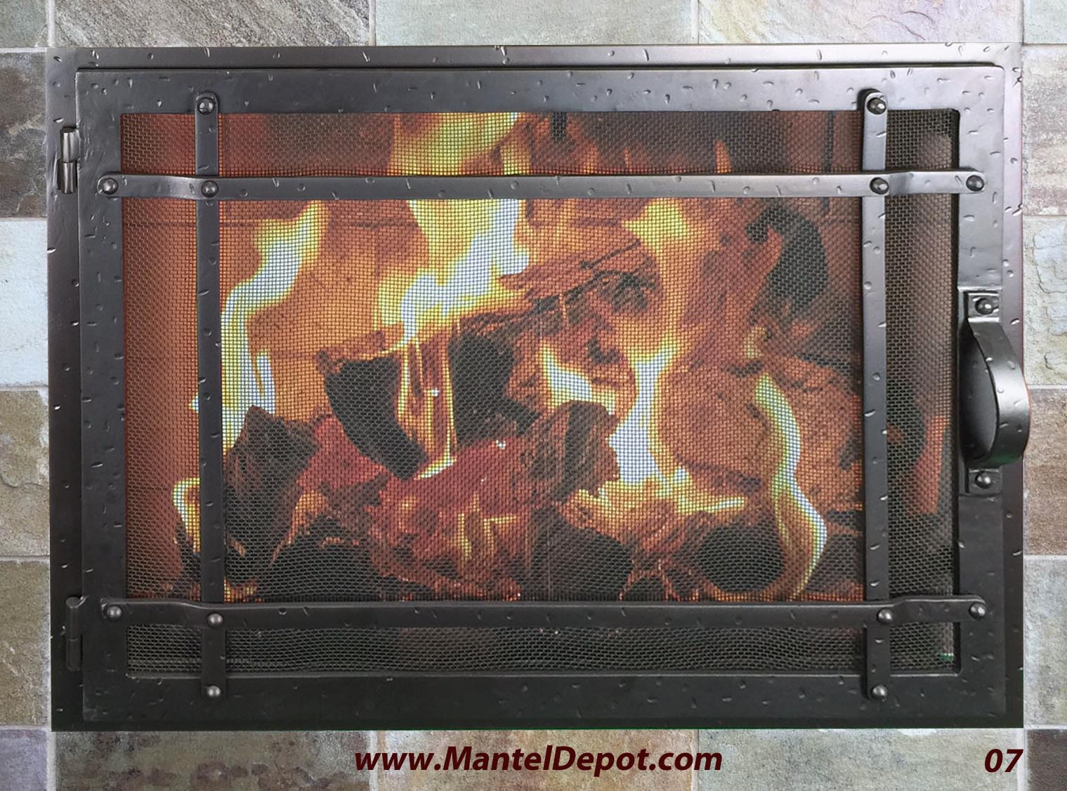 hand forged iron fireplace doors fd007 from mantel depot in san diego