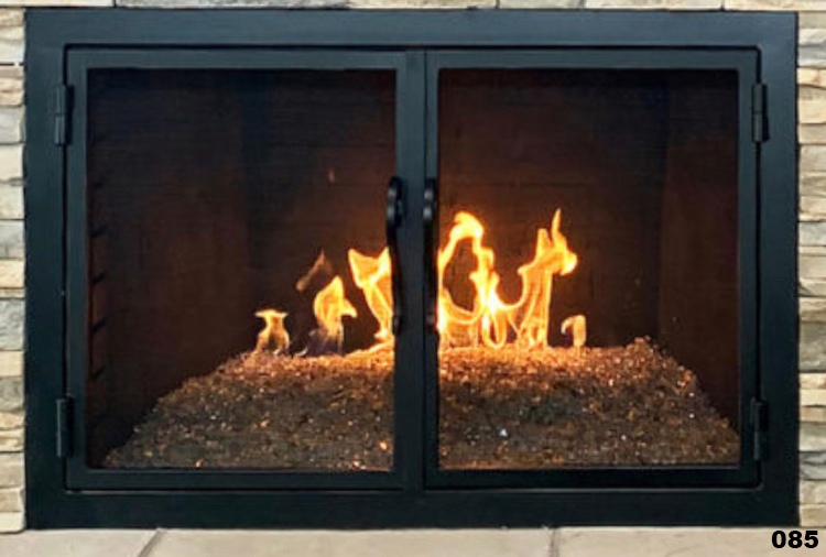 hand forged iron fireplace doors fd085 from mantel depot in san diego