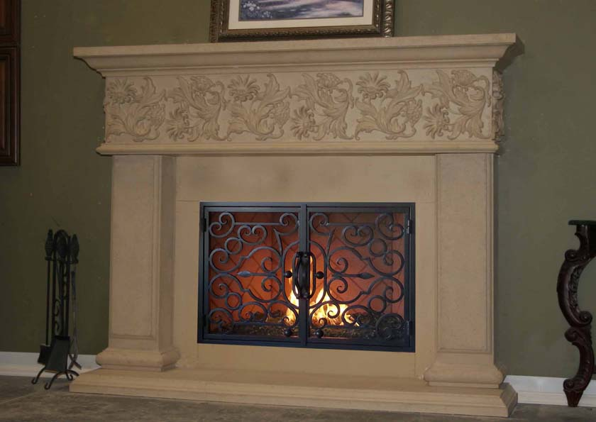 Mt836 Fireplace Mantels Fireplace Surrounds Iron Fireplace Doors And Screens In San Diego