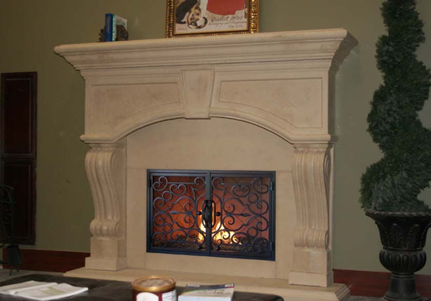 Mt917 Fireplace Mantels Fireplace Surrounds Iron Fireplace Doors And Screens In San Diego